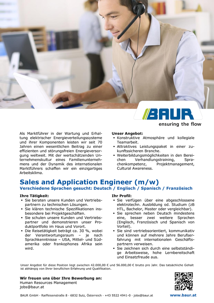 Sales and Application Engineer (m/w)