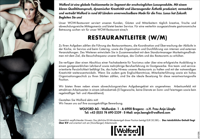 Restaurantleiter/in