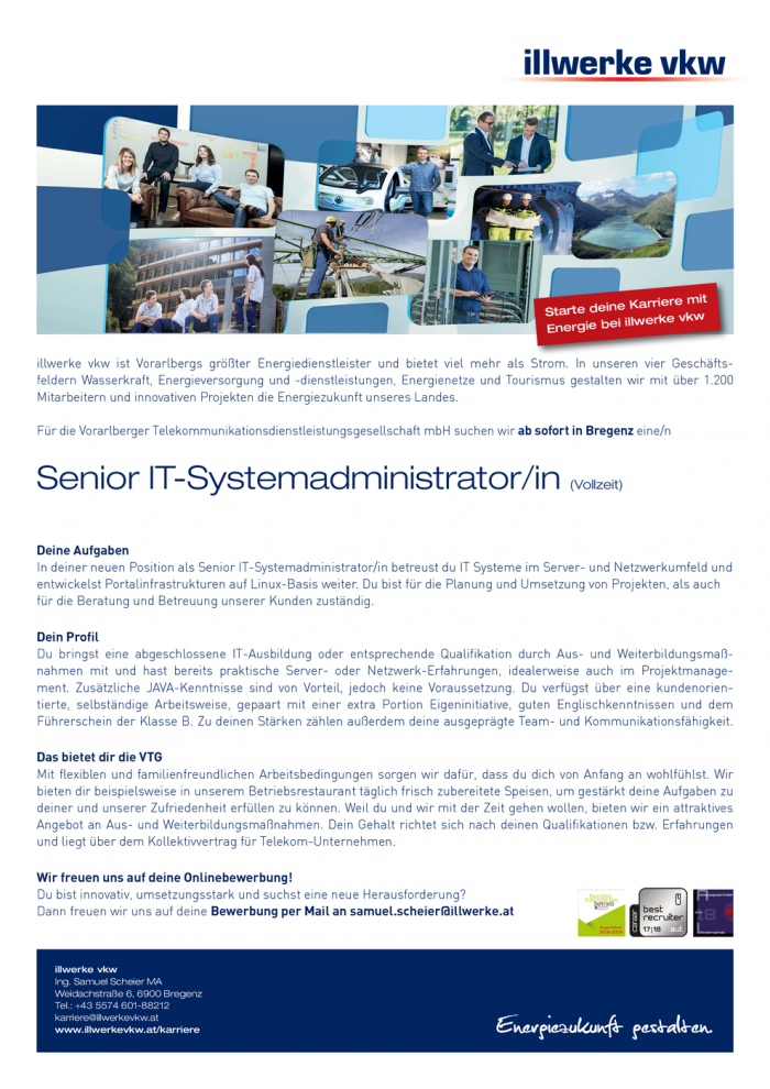 Senior IT-Systemadministrator/in