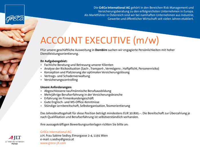 ACCOUNT EXECUTIVE (m/w)
