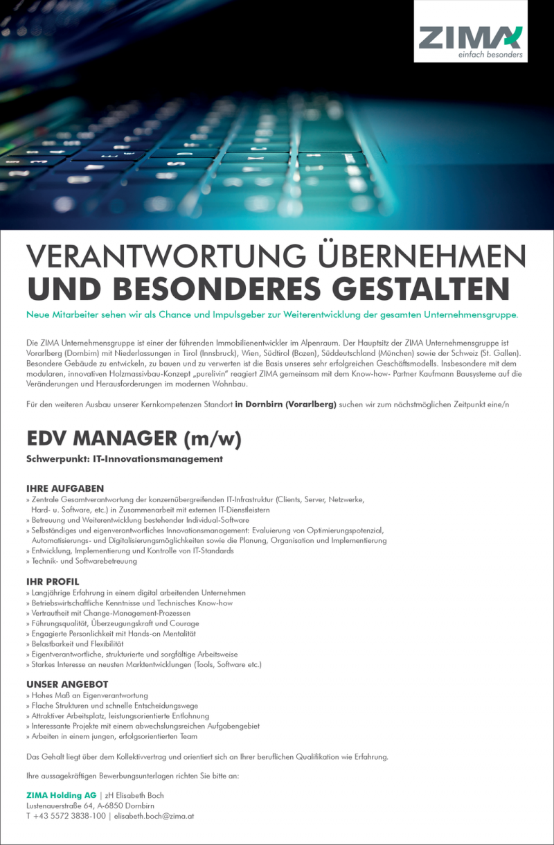 EDV Manager / IT-Innovationsmanagement