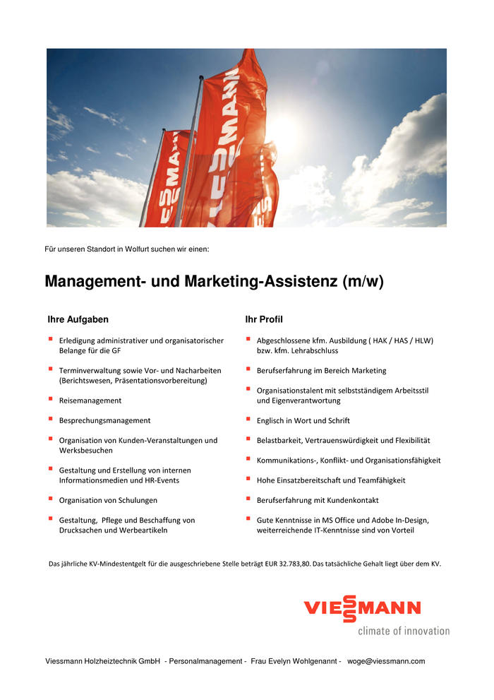 Management- und Marketing-Assistenz (m/w)