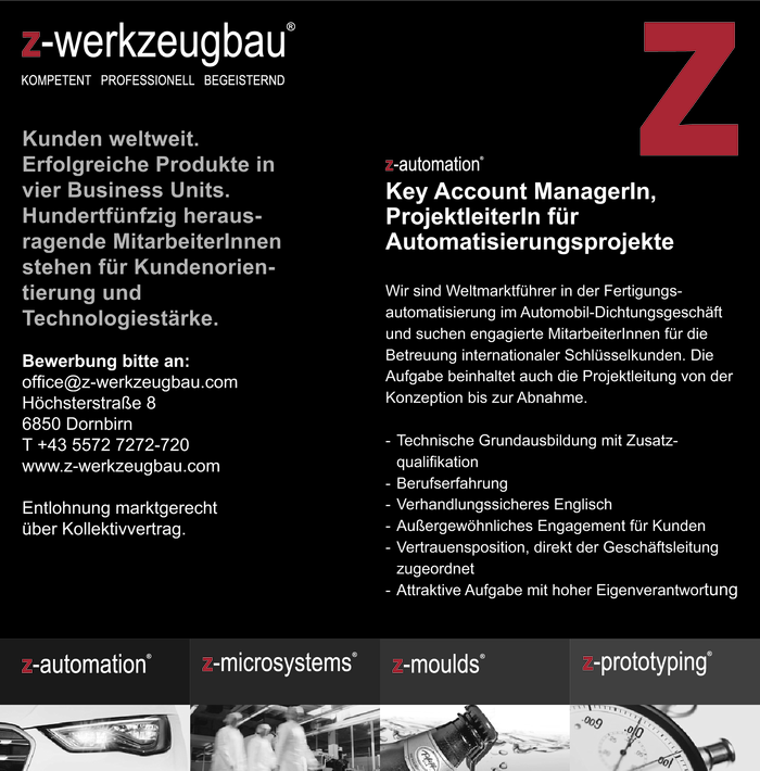 Key Account Manager/in, Projektleiter/in