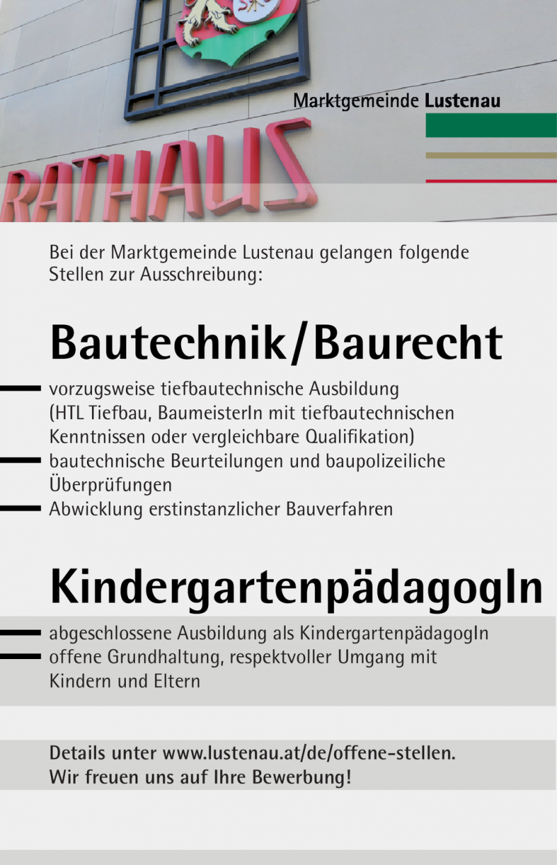 Bautechnikbaurecht Kindergartenpädagogin Vorarlberg Jobs In