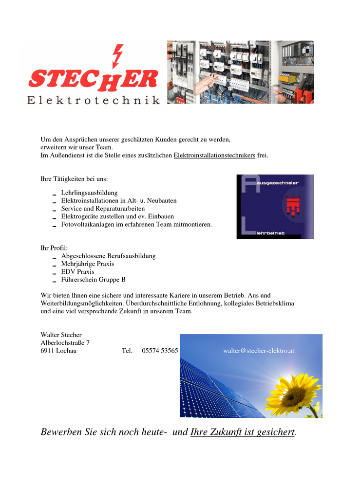 Elektrotechnik energietechnik in dornbirn auf laendlejob for Ingenieur kraftwerkstechnik