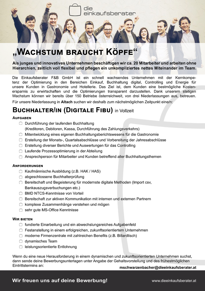 Buchhalter/in (digitale FIBU)