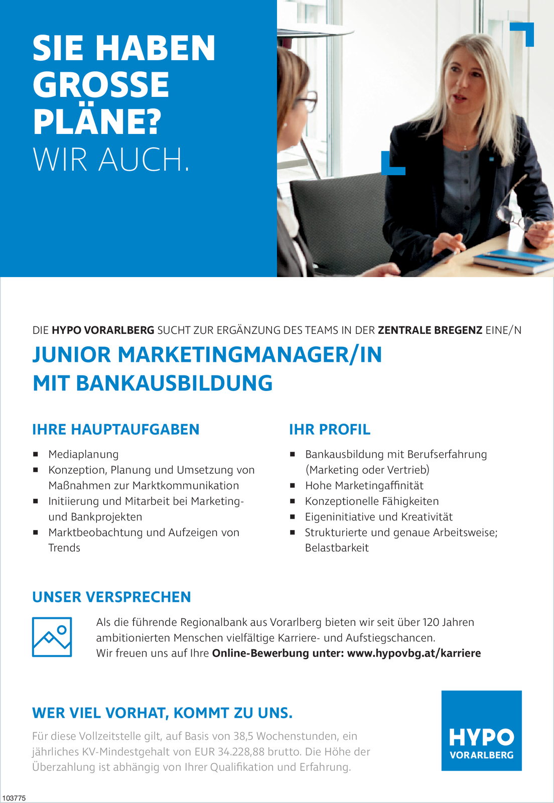 JUNIORMARKETINGMANAGER/IN MIT BANKAUSBILDUNG