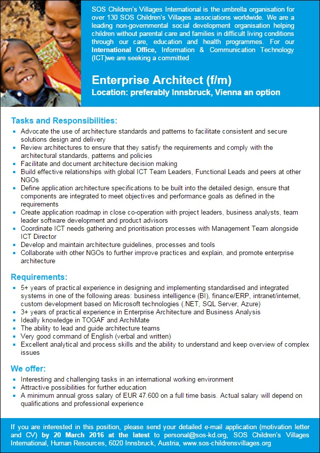 Enterprise Architect (f/m)