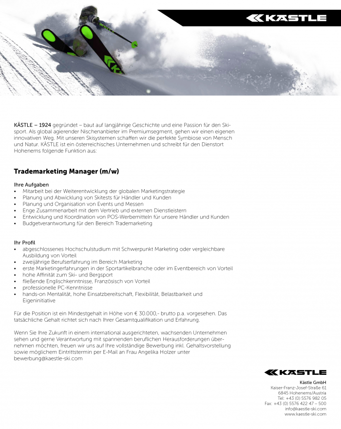 Trademarketing Manager (m/w)