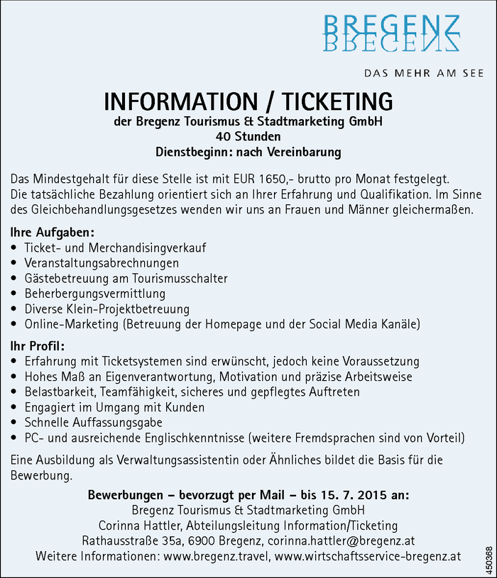 Information / Ticketing