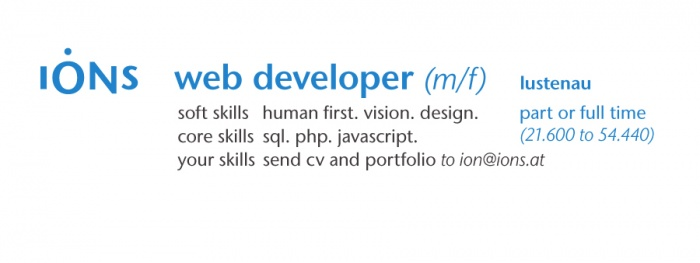 web developer (m/f)