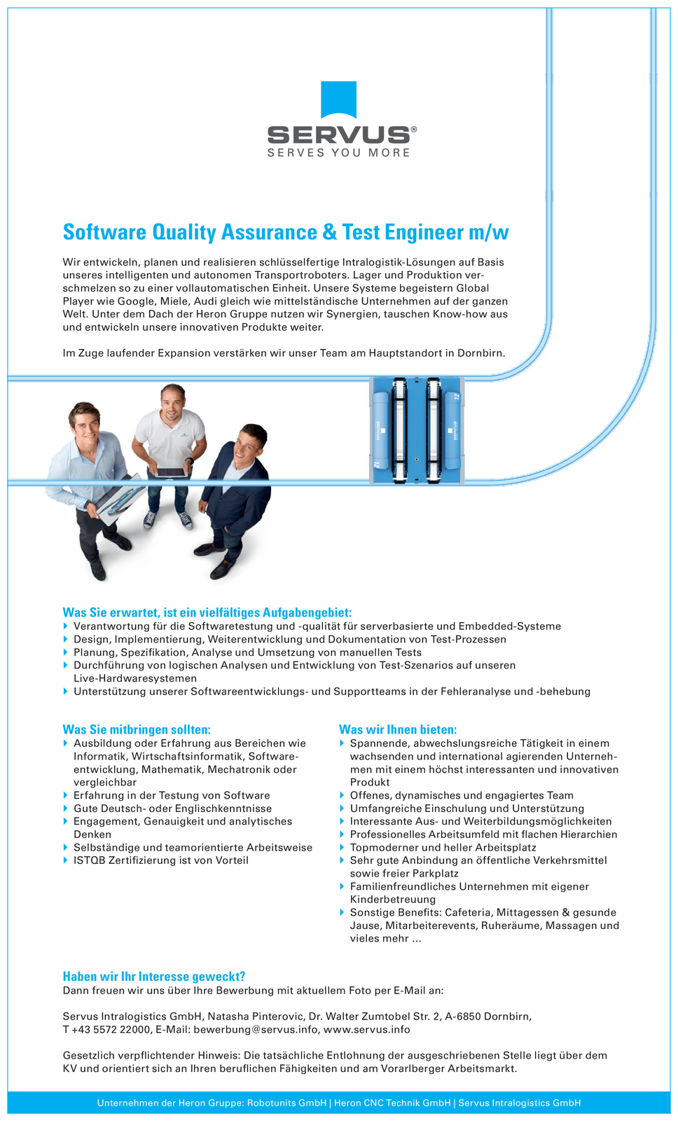 Software Quality Assurance & Test Engineer m/w