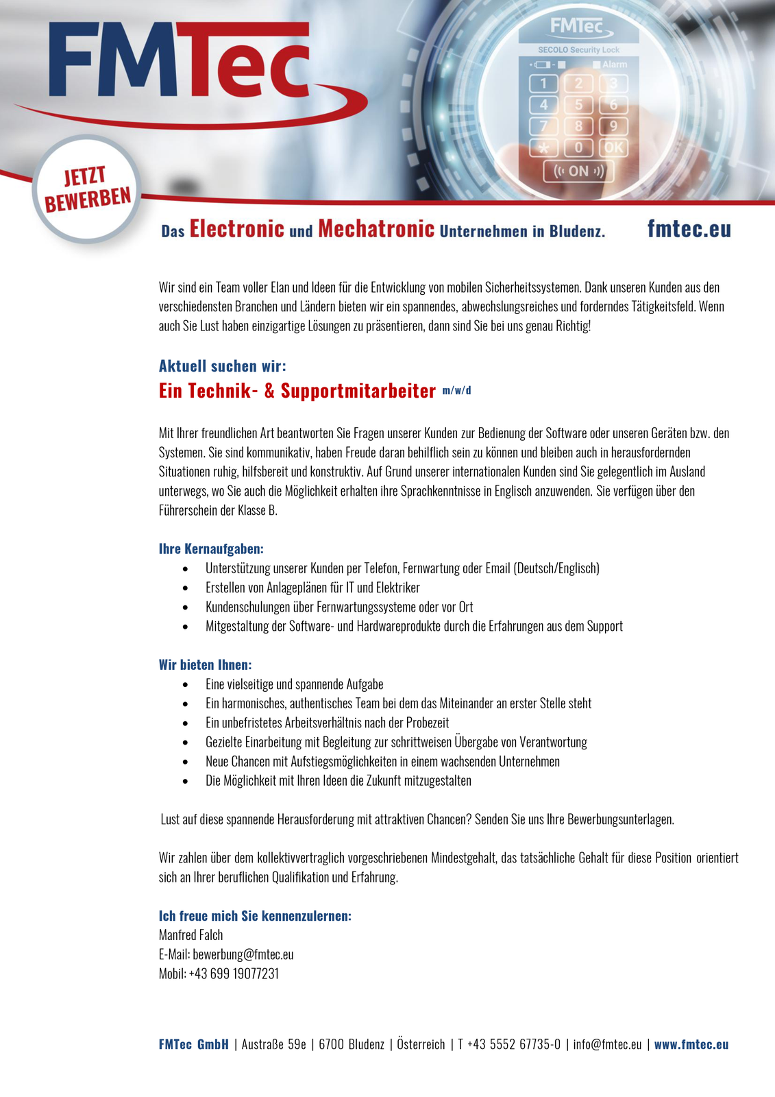 Technik- & Supportmitarbeiter m/w/d