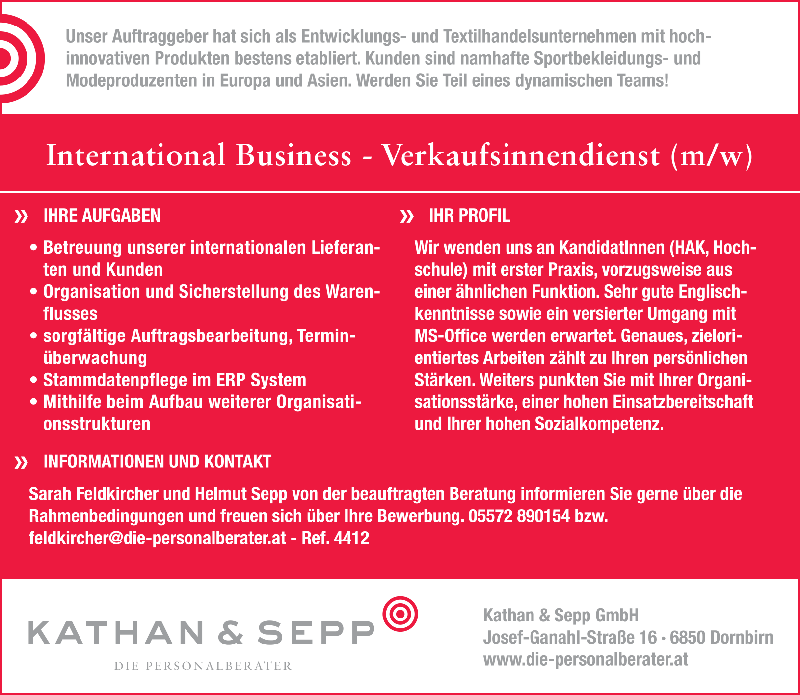International Business - Verkaufsinnendienst