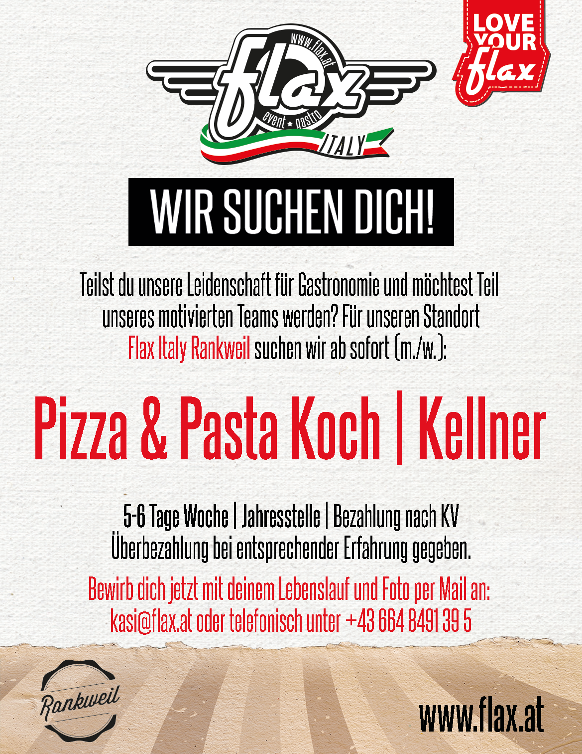 Pizza & Pastakoch | Kellner (m./w.)