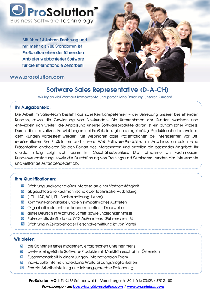 Software Sales Representative (D-A-CH)