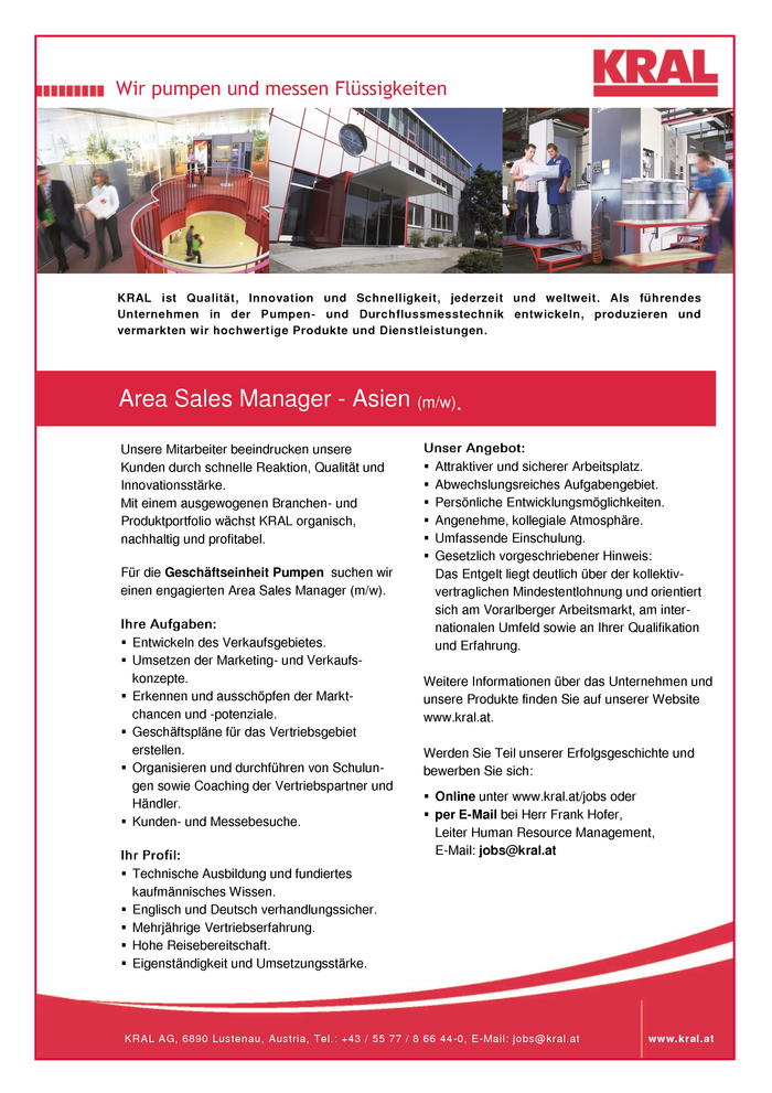 Area Sales Manager - Asien