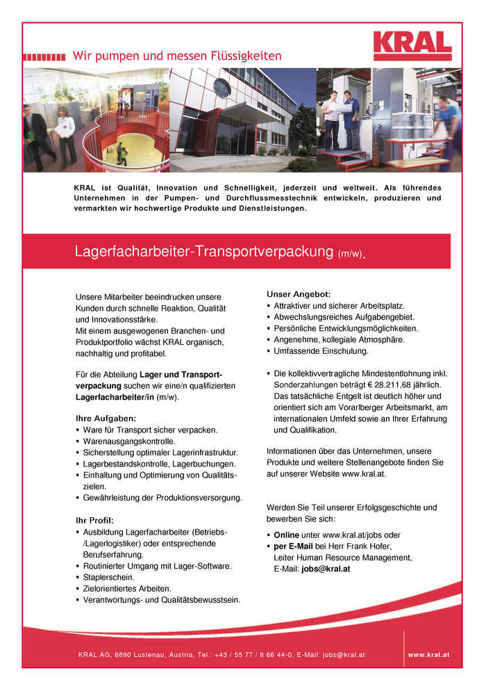 Lagerfacharbeiter-Transportverpackung (m/w).