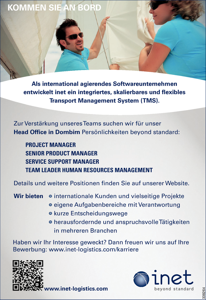 Project Manager/in, Service Support Manager/in, Human Resources Manager/in