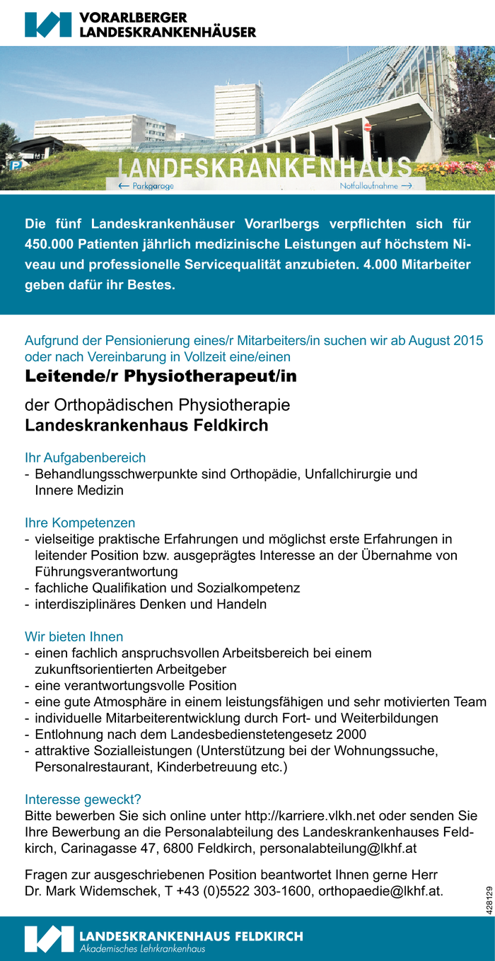 Leitende/r Physiotherapeut/in