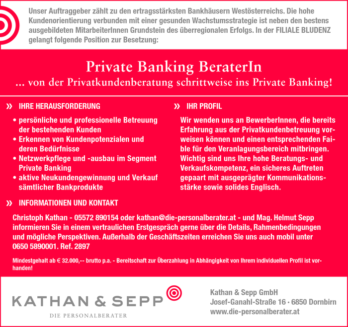 Private Banking BeraterIn