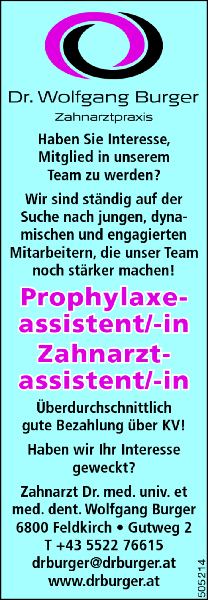 Prophylaxeassistent/in, Zahnarztassistent/in