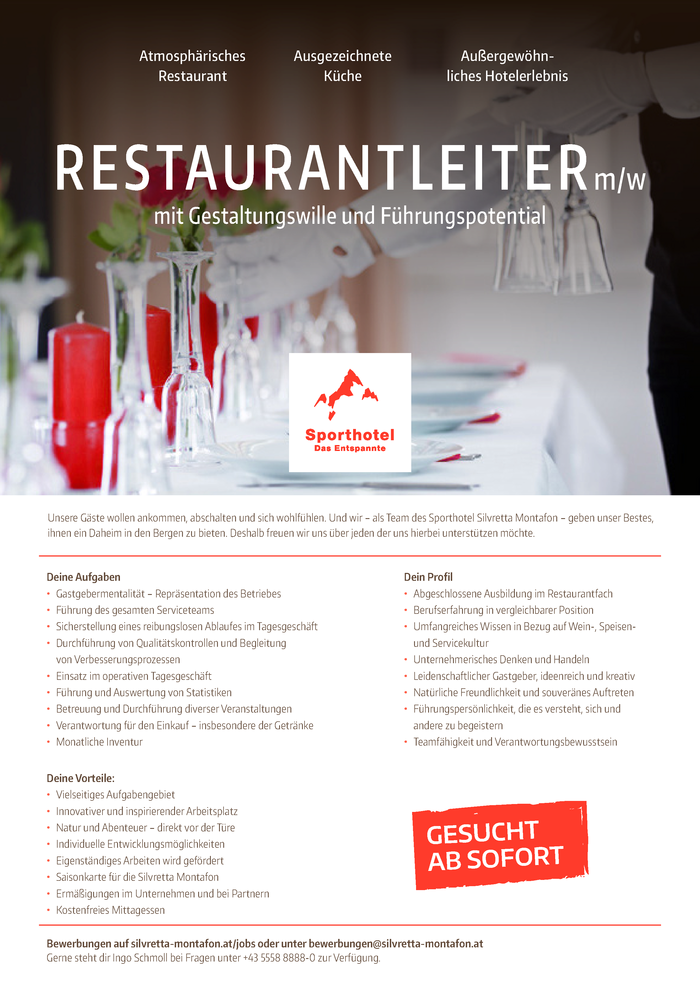 Restaurantleiter  (m/w)
