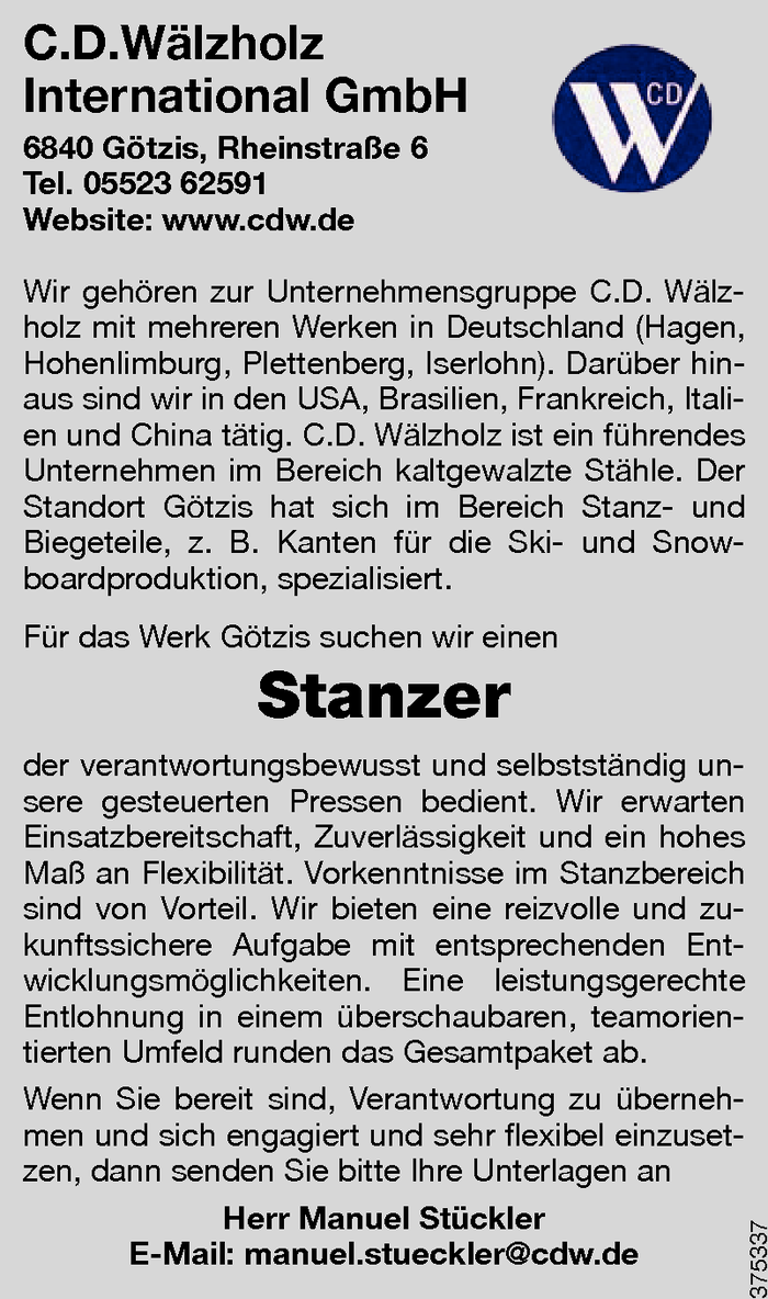 Stanzer/in