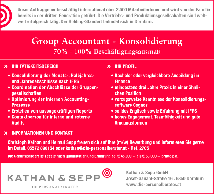Group Accountant - Konsolidierung