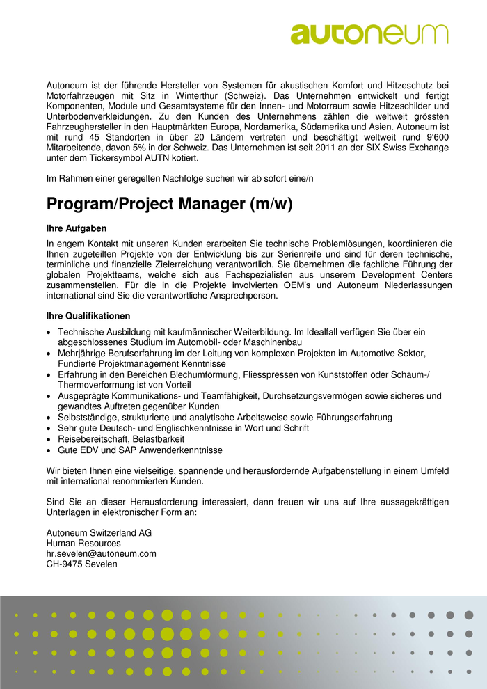 Program/Project Manager
