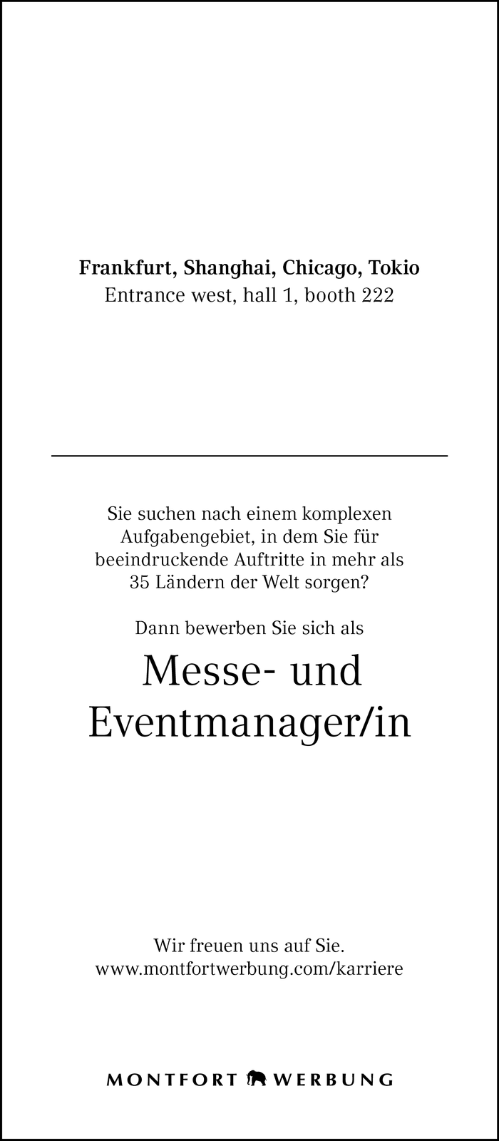 Messe- und Eventmanager/in