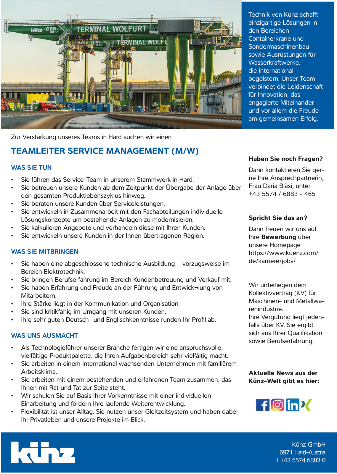 Teamleiter Service Management (m/w)