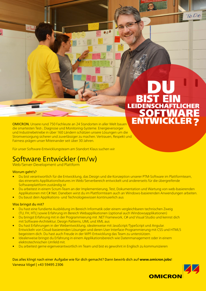Software Entwickler Web/Server-Development & Plattform (m/w)