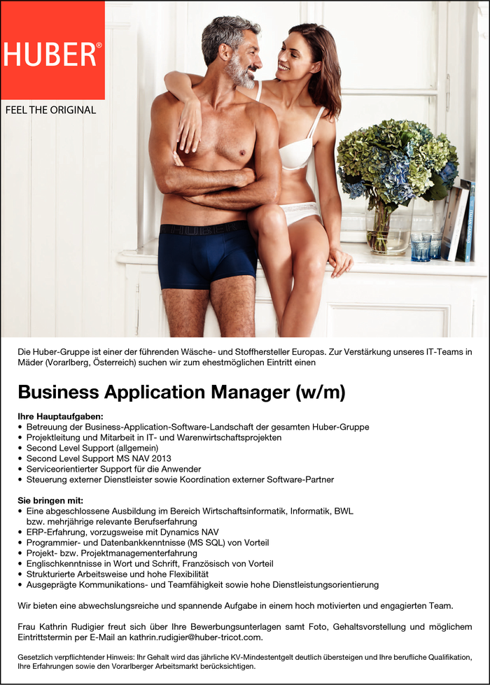 Business Application Manager (m/w)