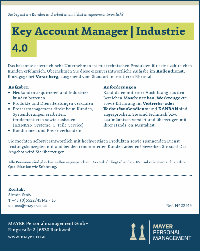 Key Account Manager | Industrie 4.0