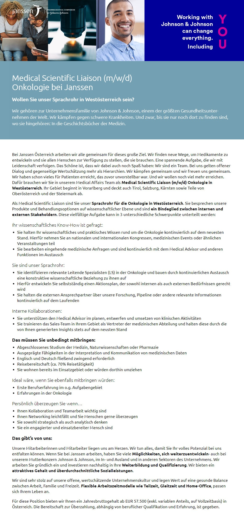 Medical Scientific Liaison (m/w/d)   Onkologie bei Janssen