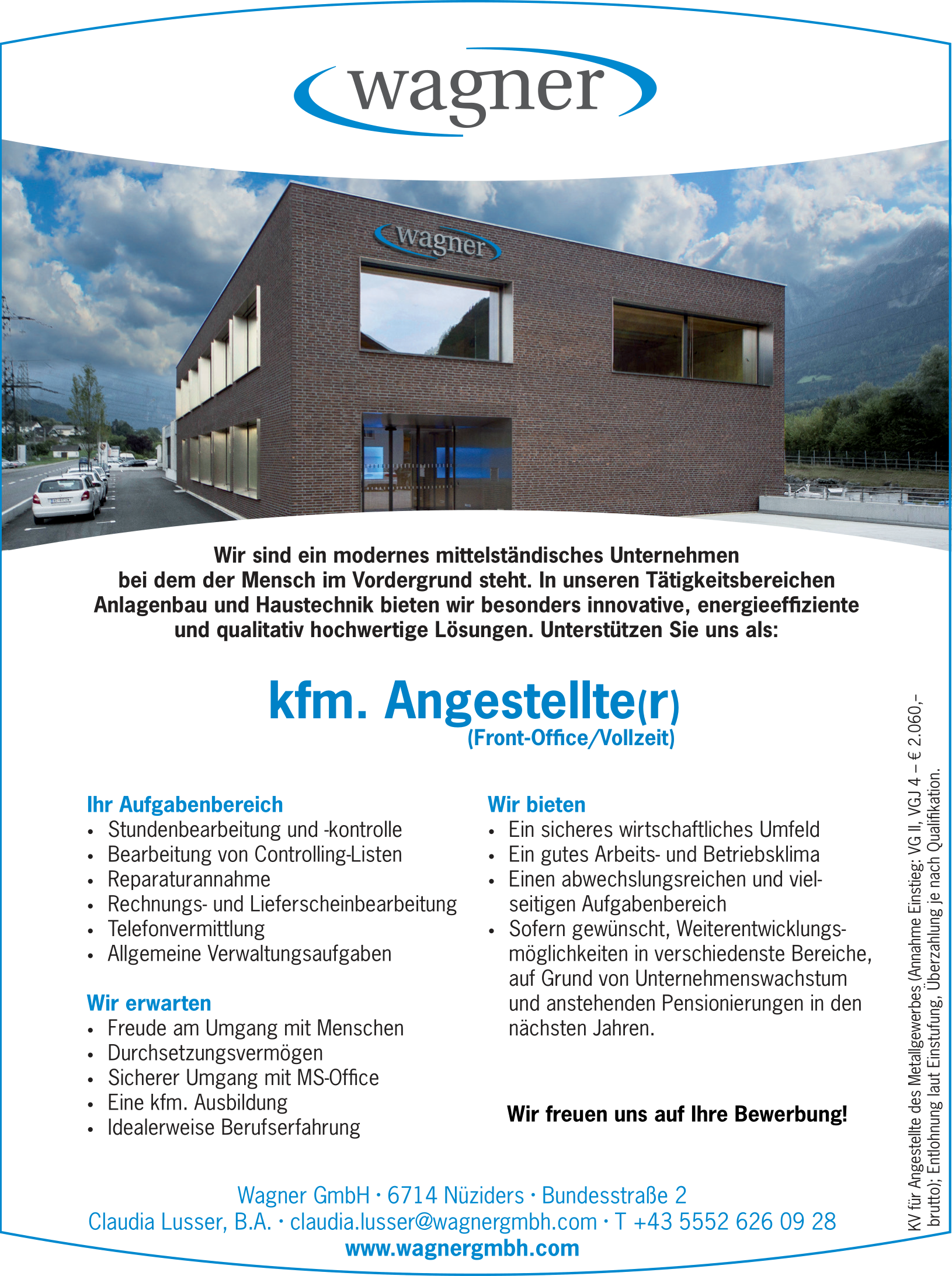 kfm. Angestellte(r) Front-Office