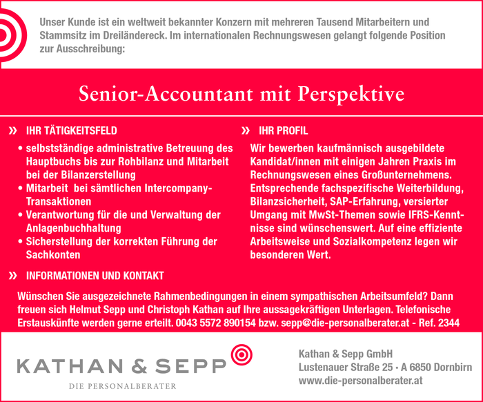 Senior-Accountant mit Perspektive