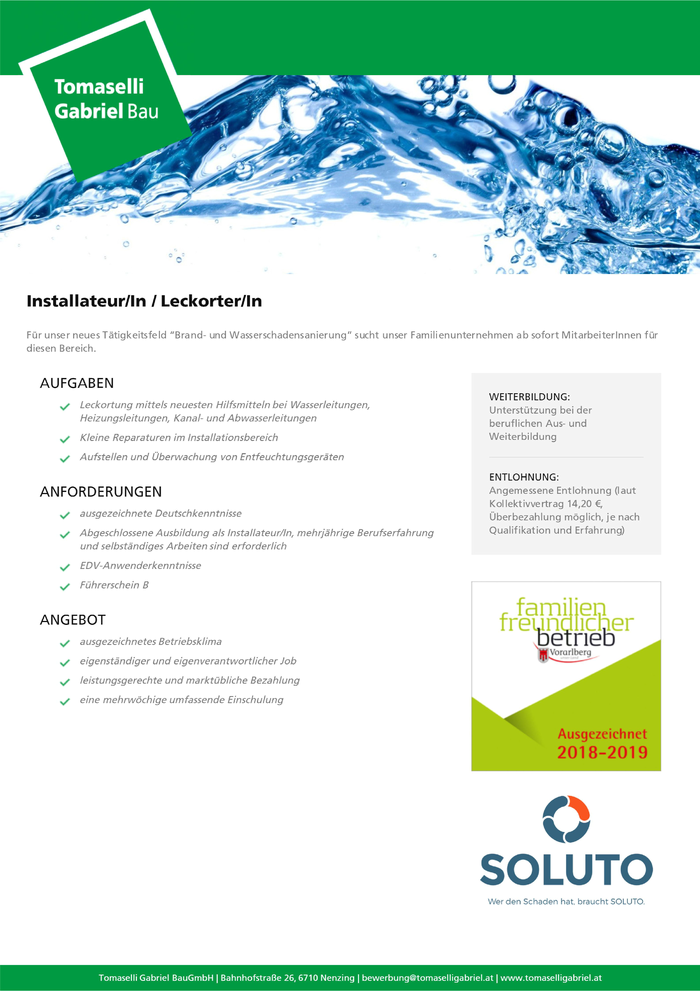 Installateur/In / Leckorter/In