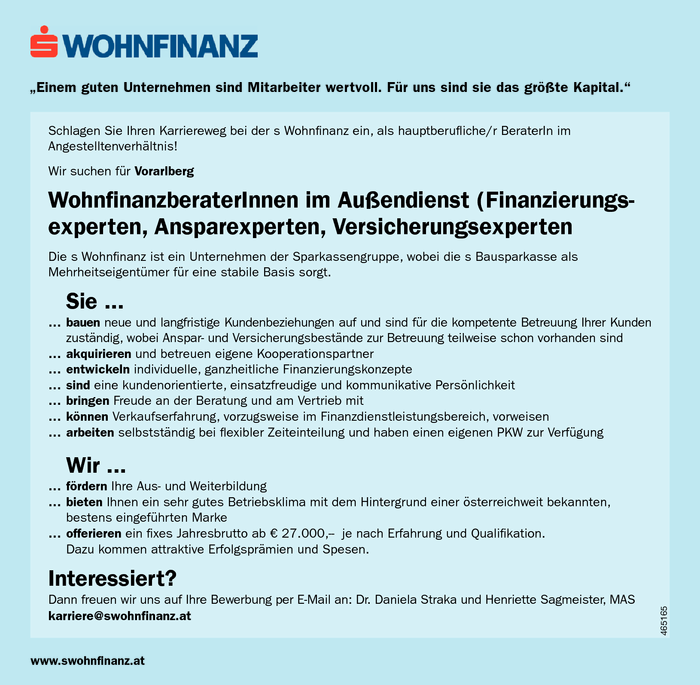 Wohnfinanzberater/in