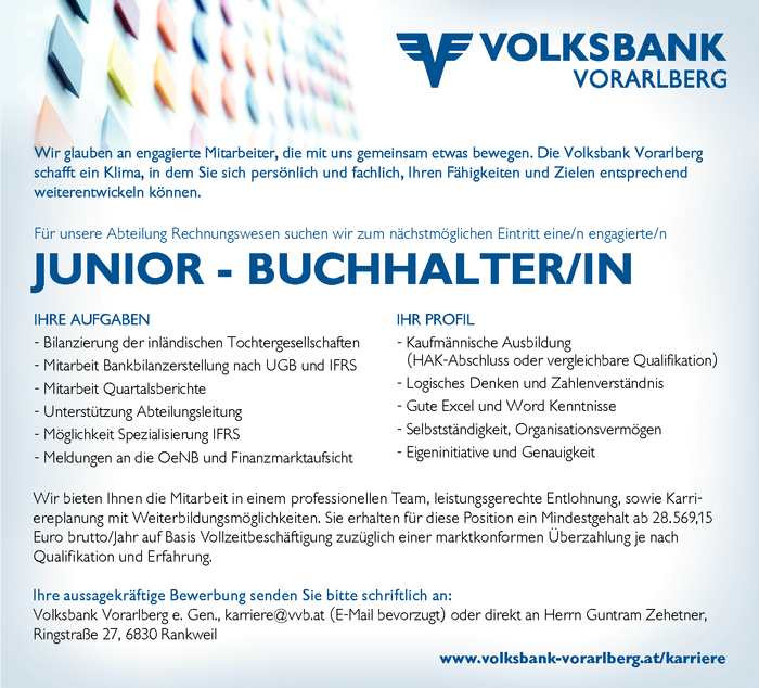 Junior - Buchhalter/in