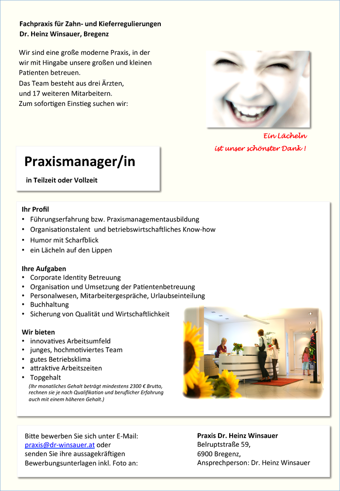 Praxismanager/In