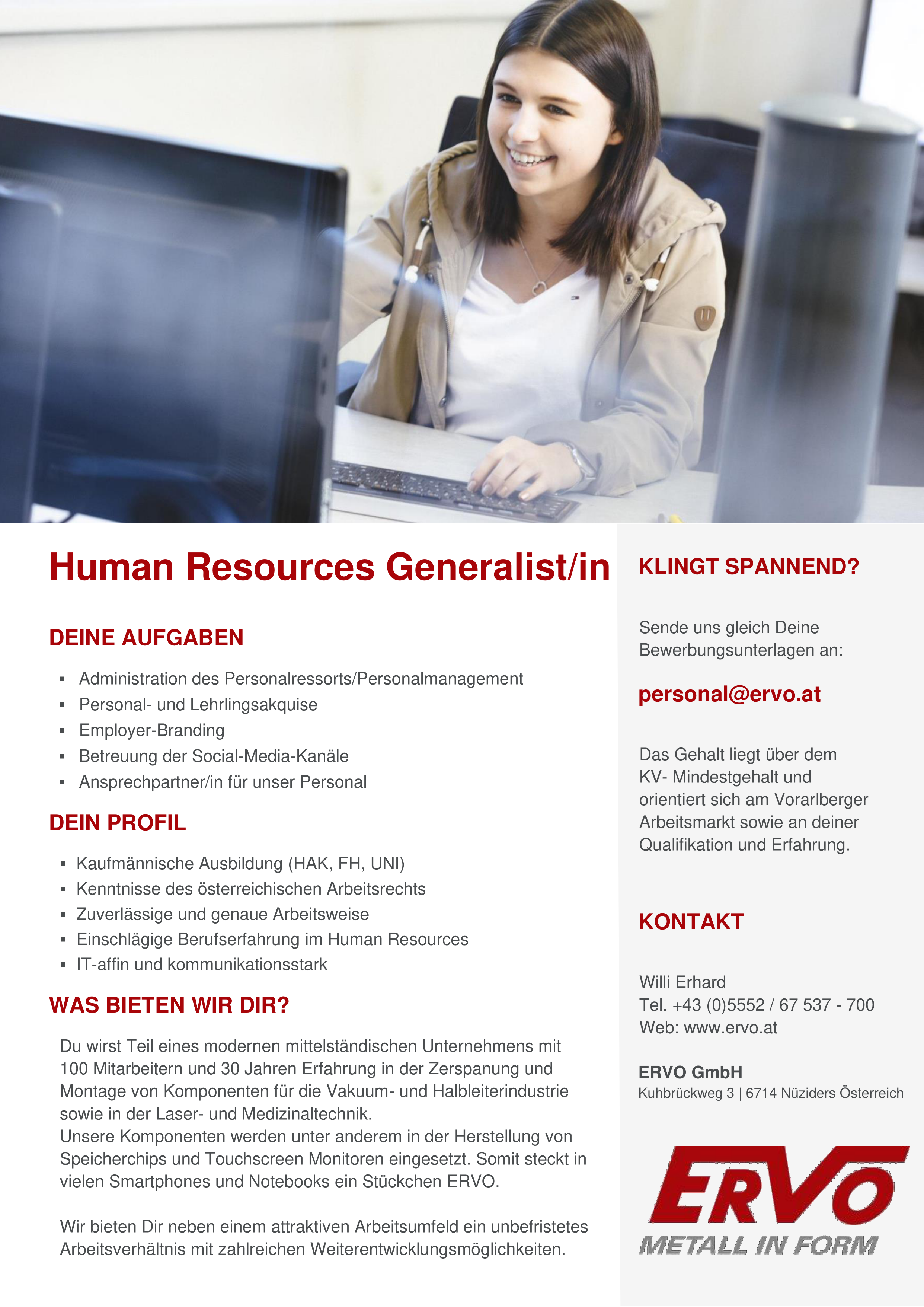 Human Resources Generalist/in