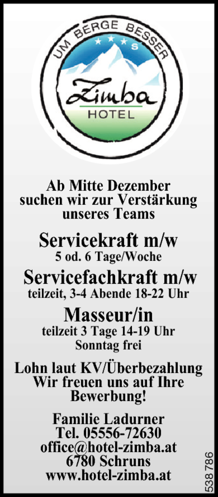 Servicekraft, Masseur/in