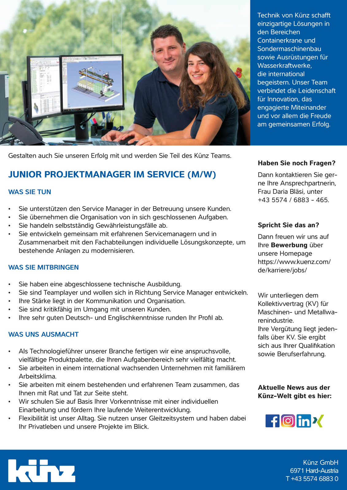 Junior Projektmanager im Service (m/w)