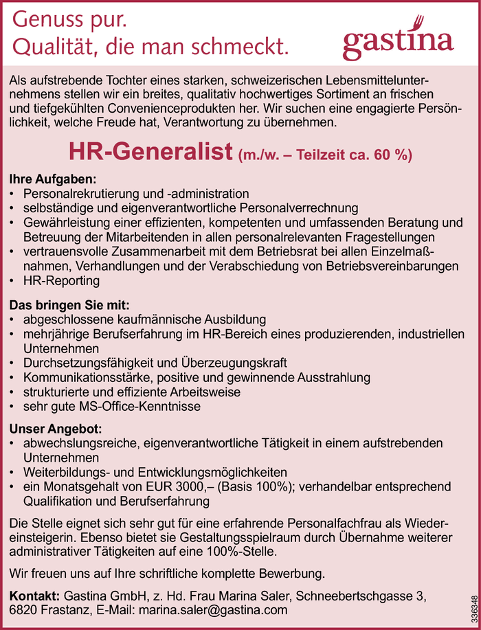 HR-Generalist/in