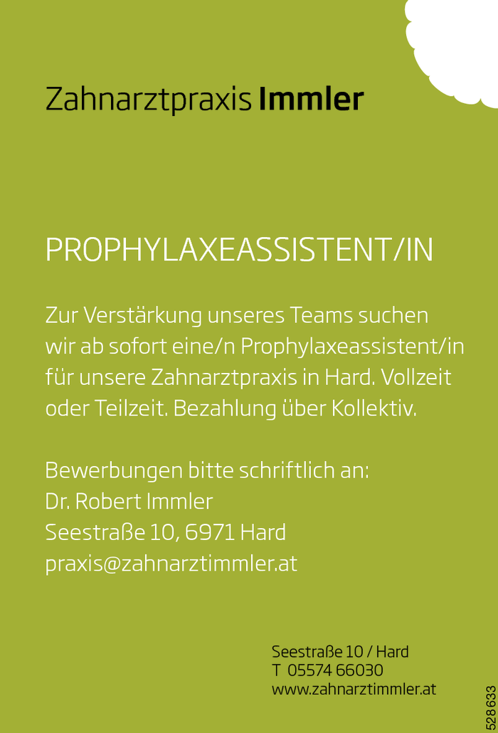 Prophylaxeassistent/in