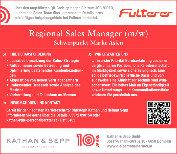 Regional Sales Manager (m/w)