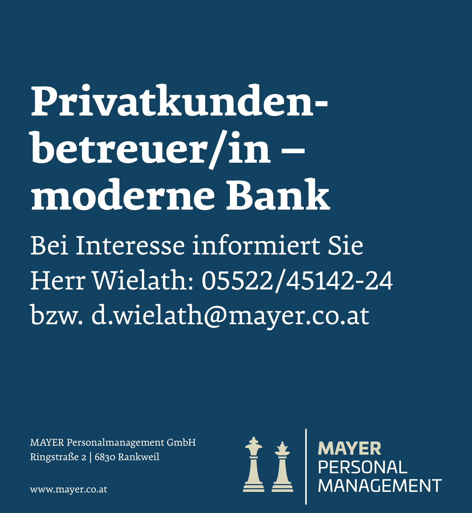 Privatkundenbetreuer/in - moderne Bank