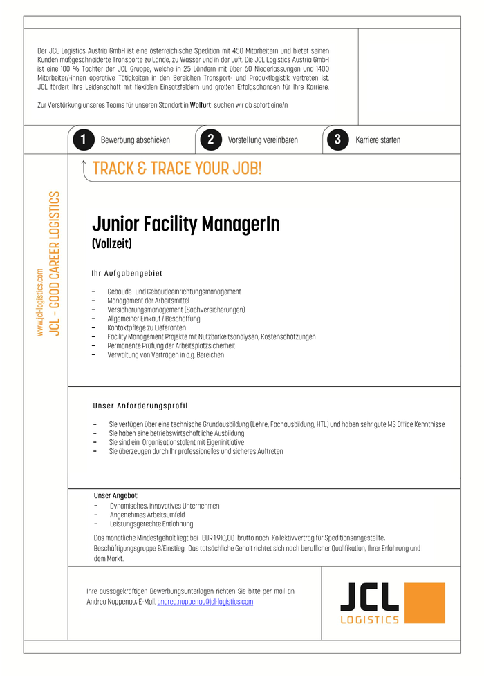 Junior Facility ManagerIn